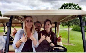 Mitarbeiterinnen und Mitarbeiter im Golfpark Strelasund