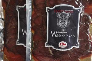 Regionale Köstlichkeiten Wildschinken